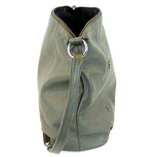 Pavini Damen Tasche Crossovertasche Berlin Leder taupe 12709 Reißverschluss