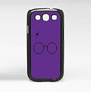 Fun Glasses and Lightning Bolt Fan Art on Purple Background Hard Snap on Phone Case (Galaxy s3 III)