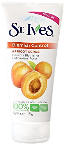 St. Ives Naturally Clear Blemish and Blackhead Control Scrub, Apricot, 6 Ounce (Pack of 2)