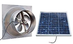 Solar Powered Attic Fan 36 Watt Gable Exhaust Vent