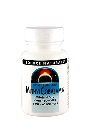 Source Naturals MethylCobalamin Vitamin B-12 1000mcg Cherry Flavored Sublingual - 60 Lozenges (Pack of 2) by Source Naturals