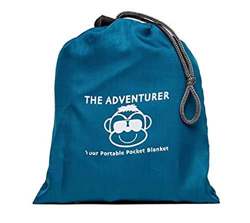 (Monkey Mat - Adventurer Mat | Ultra Lightweight Outdoor Portable Picnic Travel Blanket - 4' x 5' (Blue Yonder))