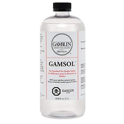 (Artists' Grade Gamsol Oil Color Size: 1 Liter, 33.8 Fl. Oz.)