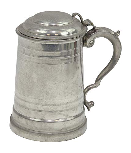 Vintage English Pewter England Tankard Mug Stein With Lid ()
