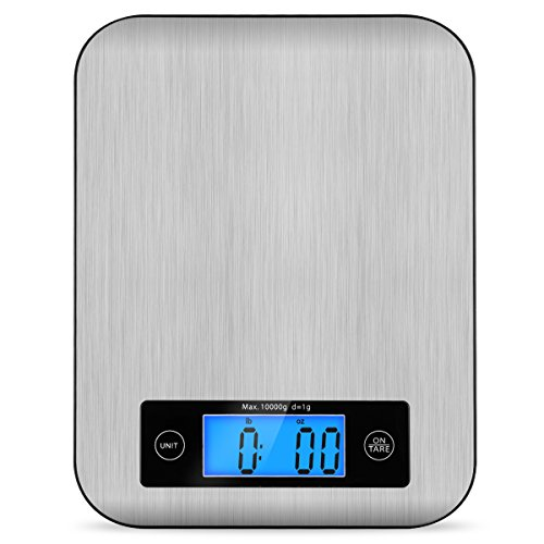 - Digital Kitchen Scale Food Scales, TOBOX Postage Scale Multifunction Stainless Steel Accuracy with LCD Display and Tare Function for Baking and Cooking 22 lb 10 kg