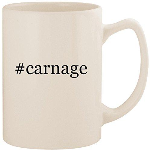#carnage - White Hashtag 14oz Ceramic Statesman Coffee Mug Cup