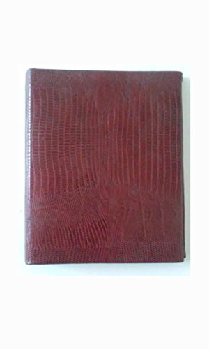 Madison Planner - Madison Signature Personal Organizer Real Leather Lizard Print Dark Red A-Z Tabs Included 6 1/2