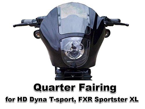 Front Quarter Fairing for Harley-Davidson Dyna T-Sport FXR Sportster (Gloss Black) by CaliBikerClub