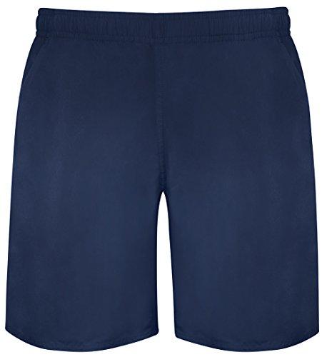 Skmf001 Azul hombres gimnasia Ocio cortos oscuro Bermudas de Pantalones 4 interior f Correr para con Deporte malla deslizamiento en ATw14aq