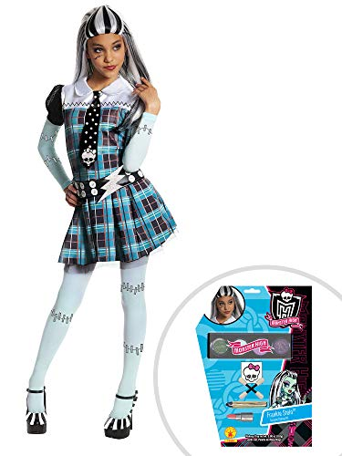 Monster High Frankie Stein Costume Kit Kids Medium With Makeup