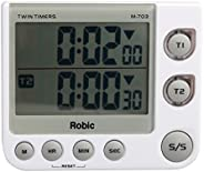 Robic Twin Timers, White