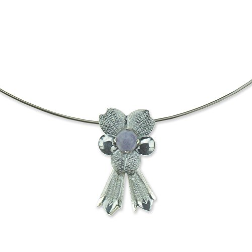 NOVICA Jade .925 Sterling Flower Necklace, 18.0'' 'Quetzaltenango Blossom' by NOVICA