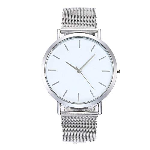 Muranba 2019 ! Casual Quartz Stainless Steel Band Marble Strap Watch Analog Wrist Watch (Sliver) ()
