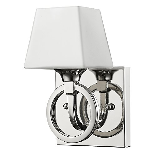 - Acclaim Lighting IN41300PN Josephine Indoor 1-Light Sconce with Glass Shade, Polished Nickel