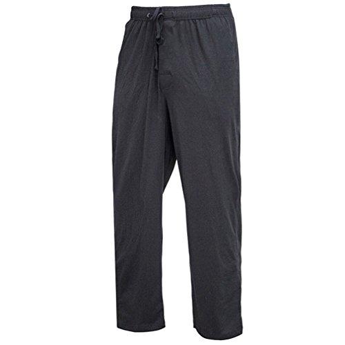 XIANGYANG Mens Cotton Sleep Bottoms String Loose Pijamas Pants Breathable Lounge Pants at Amazon Mens Clothing store: