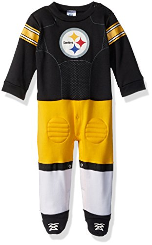 NFL Pittsburgh Steelers Unisex-Baby Footysuit Coverall, Black, 6-9 Months