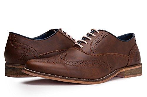 (GW 16683 Men's Modern Oxford 13M,68brown)