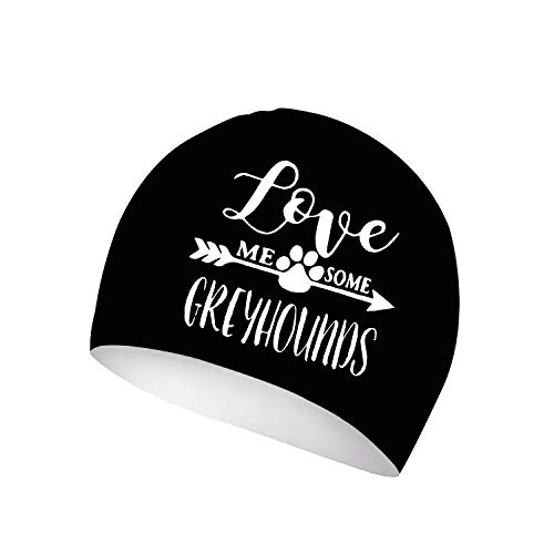 - XREE Love Me Some Greyhounds Sport Swim Cap Silicone Resilient Waterproof Solid Swimming Cap, Anti-Slip Interior, Suitable for Long or Short Hair