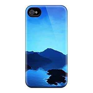For WilliamMorrisNelson Iphone Protective Case, High Quality For Iphone 4/4s Catalina Cove Skin Case Cover