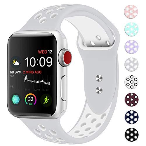 DVEEZIIG Belt Clip for Apple Watch Series 1/2/3/4-38/40mm S/M Pure Platinum/White