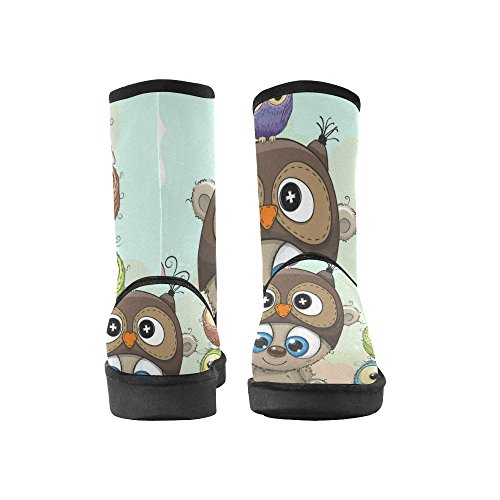 Cartoon Boots Owls Women five InterestPrint For Bear Teddy Shoes and LEINTEREST Snow Cute Fashion acnqqwESU