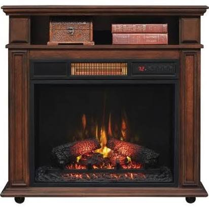 Amazon Com Twin Star Infragen Rolling Mantel Electric Fireplace