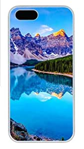 iPhone 5S Cases & Covers - The Lake Mirror Custom PC Hard Case Cover for iPhone 5/5S ¨C White