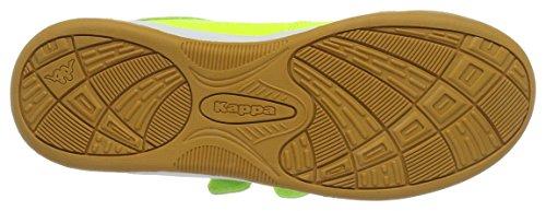 KappaKickoff Teens - Zapatillas Deportivas para Interior Unisex Niños Amarillo (4011 Yellow/black)