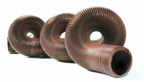 "(Camco 39631-A 20' Durable High Tensile Strength Sewer Steel Wire Core – 20' Hose with 15 mils of HTS Vinyl, for Seasonal RVing Compresses to 32"" for Simple and Easy Storage, Brown (39631))"