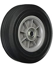 Shepherd Hardware 9600 8-Inch Hand Truck Replacement Wheel, Solid Rubber, 5/8-Inch Offset Axle Diameter