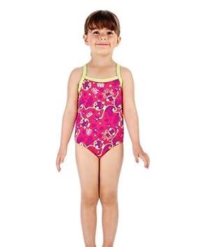 Speedo New Girls Tots Titch One Piece Aqua Swimming Suit Childrens
