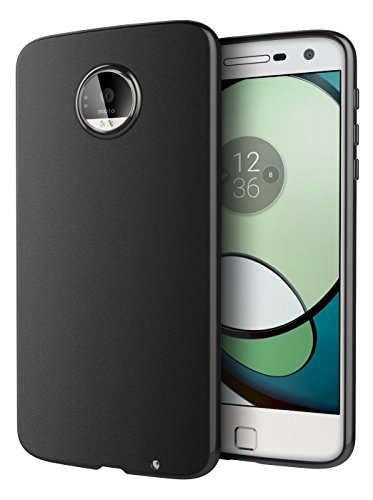 Price comparison product image Moto Z Play Case, Cimo [Matte] Premium Slim Protective Cover for Motorola Moto Z Play Droid (2016) - Black