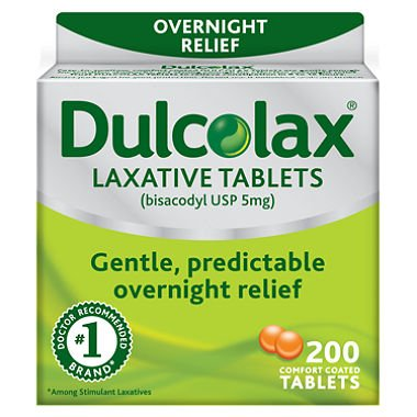 Dulcolax Laxative Tablets, 200 Count (Pack of 2) by Dulcolax