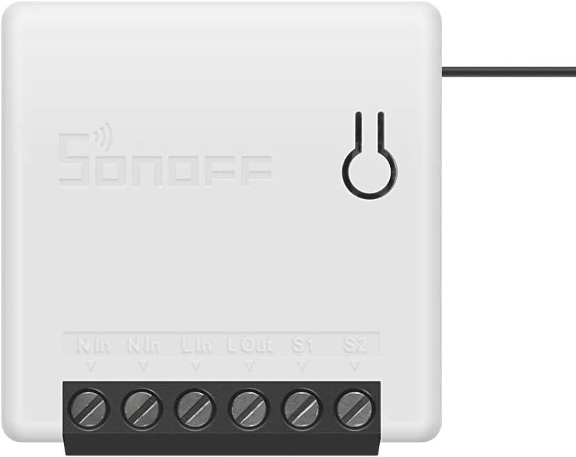 Docooler SONOFF Mini DIY Zwei-Wege-Smart-Switch 10A AC 100-240 V Fernbedienung WiFi-Switch-Unterst/ützung EIN externer Switch Arbeit mit Google Home//Nest IFTTT /& Alexa 1 Packung