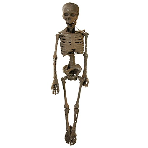 Halloween Haunters 4 Foot Hanging Full Body Skeleton Mummy Plastic Prop Decoration - Posable Joints, Human Bones, Scary (Skeleton Chair)