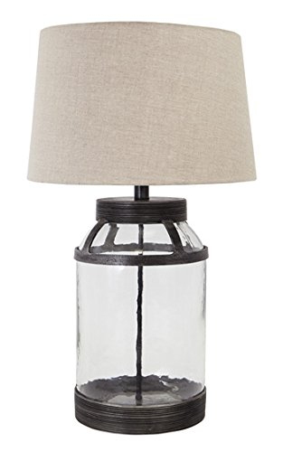 Table Lamp Transparent Glass Table Lamp (Set of 1) - 1 Light Glass Table Lamp