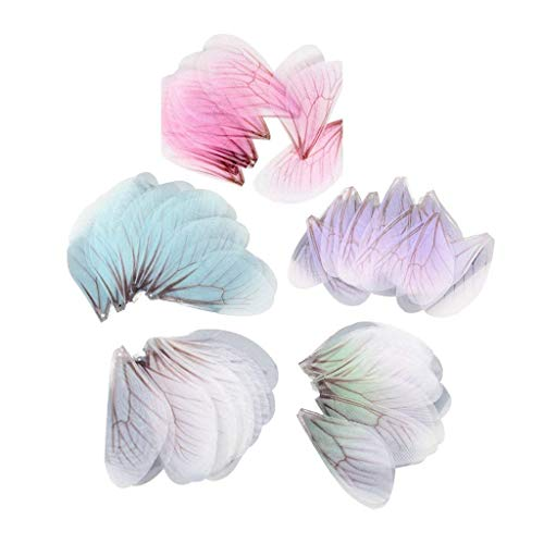 - 50pcs Dragonfly Wing Charms for Women Earrings Pendant Jewelry - Colorful