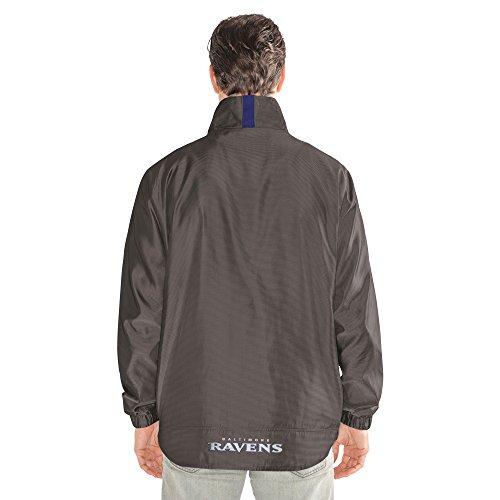 NFL THE Executive Full Zip Jacket, herren, The Executive Full Zip Jacket, dunkelgrau, Medium