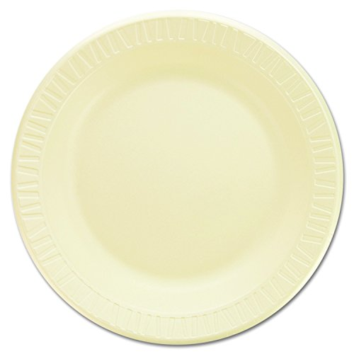 Non Foam Dinnerware Laminated (Dart 10PHQR 10.25 in Honey Laminated Foam Plate (Case of 500))