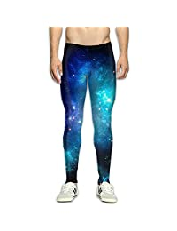 Galaxy Nebula Space Men's Fitness Compression Pants Sports Leggings Tights Baselayer Yoga Trousers
