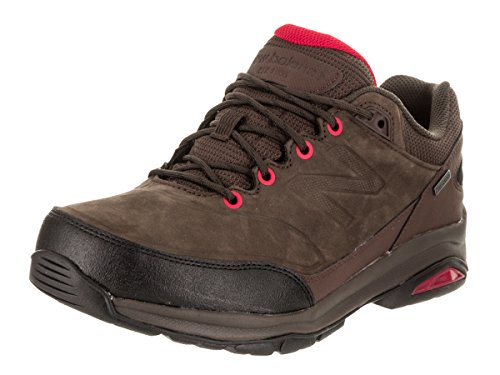 Country Walking Shoe - New Balance Men's MW1300 Walking Shoe, Size: 10 Width: 2E Color: Brown/Red