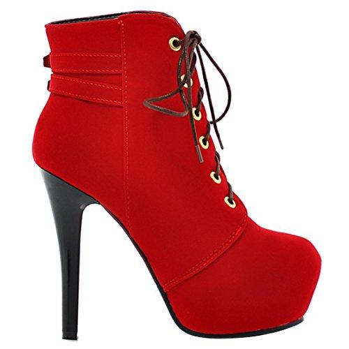 AIYOUMEI Red Classic Women's Classic Women's Boot Boot AIYOUMEI tvqBgcw