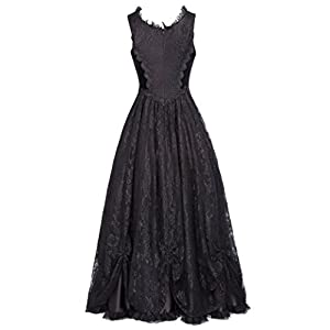 Belle Poque Women Steampunk Gothic Victorian Long Maxi Dresses Witch Cosplay