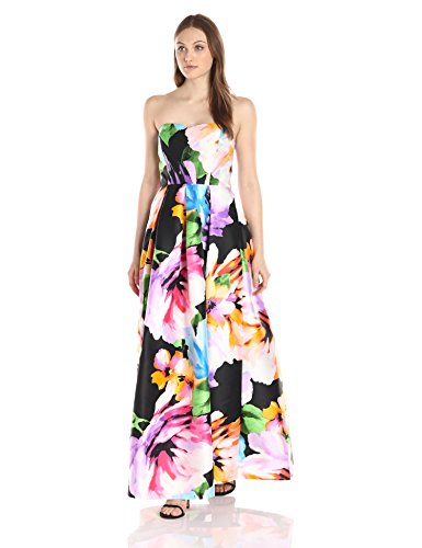 Printed Strapless Gown - 3