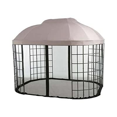 Garden Winds Oval Dome Gazebo Replacement Canopy Top Cover -RipLock 500 : Garden & Outdoor