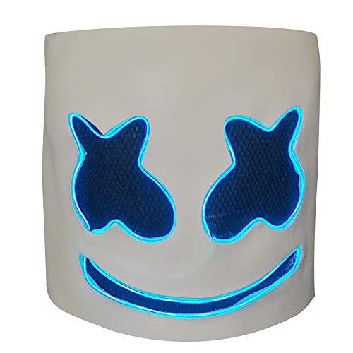 Marshmello DJ Mask,Top 10 DJs Marshmello Mask,Music Festival Helmets, Latex Full Head Masks Halloween Party Props Costume Masks -