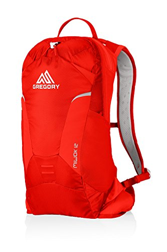 Gregory Mountain Products Miwok 12 Liter Men's Daypack, Citrus Red, One Size