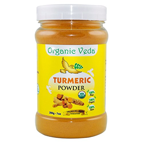 Organic Turmeric Powder - 7Oz.  USDA Certified Organic  100% Pure and Raw Organic Herbal Super Food Supplement. Non GMO. Gluten FREE. US FDA Registered Facility. ALL NATURAL! (7 Oz)