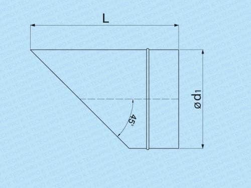 Wickelfalz 45/° Ausblasstutzen Endst/ück Abschluss mit Lippendichtung System /Ø 100