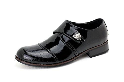 Zapatillas de hombre Italiano Inteligente Brillante Encaje Cuero Boda Oficina Deslizante